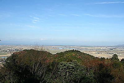 天守跡から琵琶湖を望む